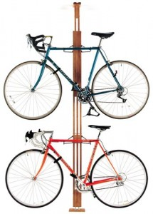 OakRak floor to ceiling bike rack by GearUp