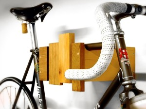 Reclaimed Wood Bike Rack by Cantileverandpress