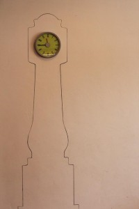 Grandfather clock design by Molly Stern via Apartment Therapy